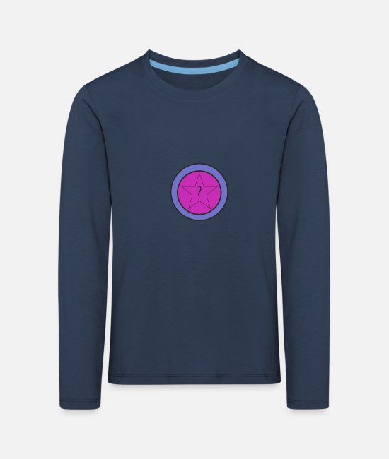 Star Long-Sleeved Shirts - star - Kids' Premium Longsleeve Shirt navy