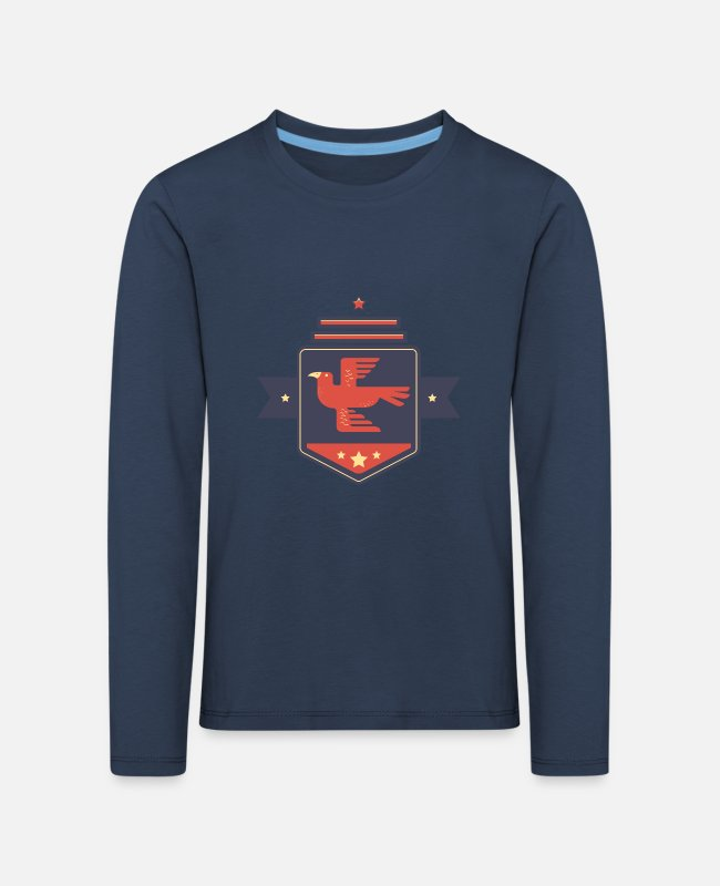 Young Long-Sleeved Shirts - Leibl Designs - Coat of arms Eagle - Kids' Premium Longsleeve Shirt navy