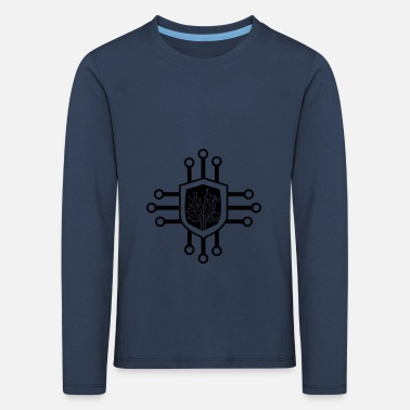 Anonymous cyber security symbol 001 - Kinder Premium Langarmshirt