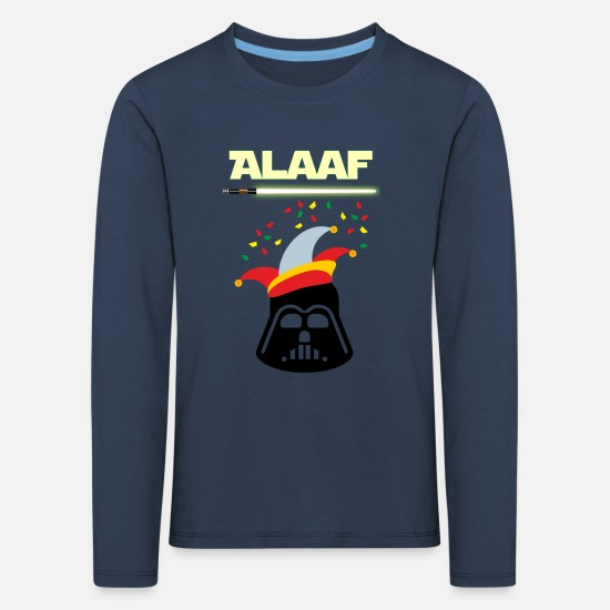 Shrovetide Long sleeve shirts - Darth Vader Alaaf - Kids' Premium Longsleeve Shirt navy