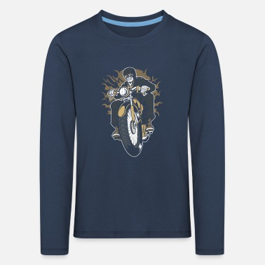 Motorcycle Biker Motorsport Crossbike Chopper - Kids' Premium Longsleeve Shirt