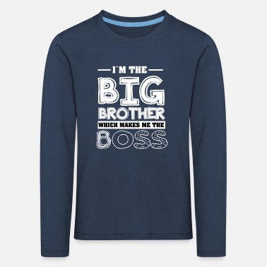 Brother Big Brother Cool T-Shirt - Kids' Premium Longsleeve Shirt
