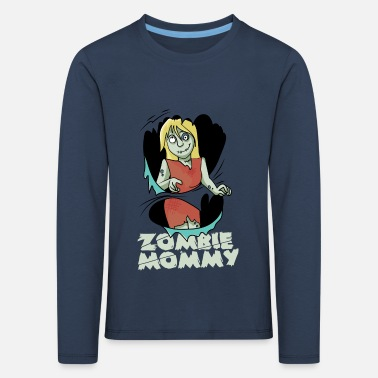 Costume d'Halloween Zombie Mama Family - T-shirt manches longues premium Enfant