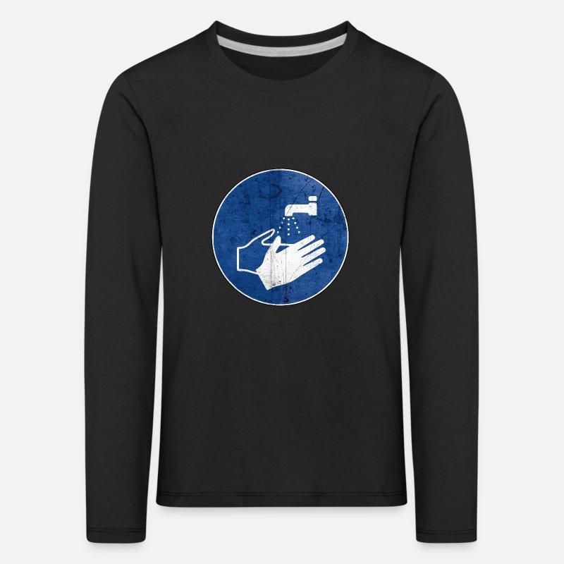 Vask hendene Premium T skjorte barn | Spreadshirt