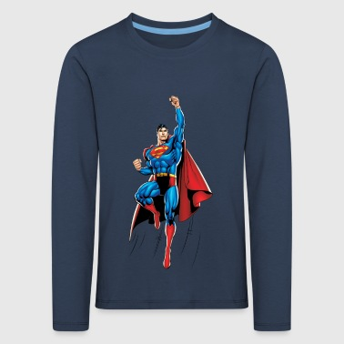 Superman Up and Away Teenager Longsleeve - Børne premium T-shirt med lange ærmer