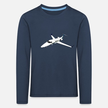 Jet Private Jet Airplane Jet Jet - Kinderen premium longsleeve