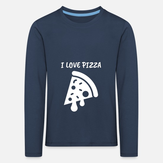 Pizza Long sleeve shirts - Pizza fast food delicious restaurant delivery service - Kids' Premium Longsleeve Shirt navy