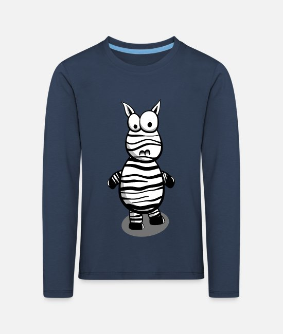 Strips Long-Sleeved Shirts - Zebra Comic Gift Idea - Kids' Premium Longsleeve Shirt navy