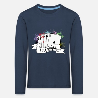 House Poker Full House Karten Pokerspiel - Kinder Premium Langarmshirt