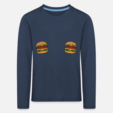 hamburgers on your shirt - Kinderen premium longsleeve