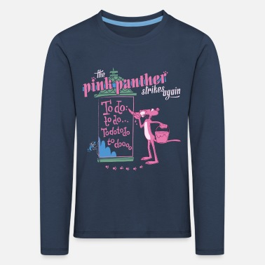 Pink Panther Paulchen Strikes Again To Do - Kinder Premium Langarmshirt