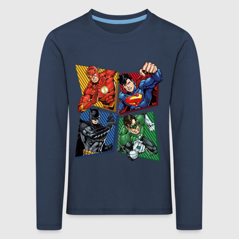 DC Comics Justice League Superheroes Group - Børne premium T-shirt med lange ærmer