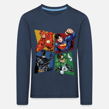 DC Comics Justice League Superhelden - Kinder Premium Langarmshirt