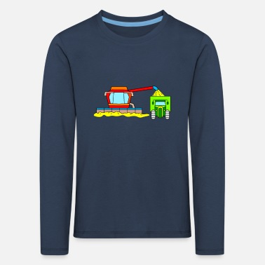 Harvester Combine harvester and tractor for children - Kids' Premium Longsleeve Shirt