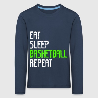 EAT SLEEP BASKETBALL REPEAT - Kinder Premium Langarmshirt