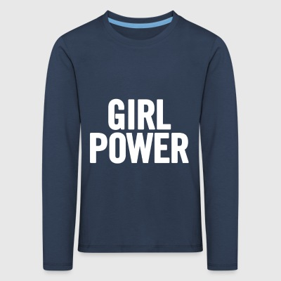 Girl Power blanc - T-shirt manches longues Premium Enfant