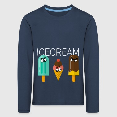 icecream ice lolly comic friends children sweet sun - Kids' Premium Longsleeve Shirt