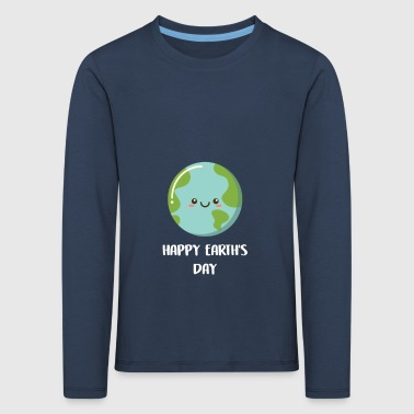 Happy Earth Day gave til Earth Lovers - Børne premium T-shirt med lange ærmer