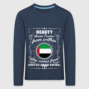 beauty comes from UNITED ARAB EMIRATES png - Kids' Premium Longsleeve Shirt