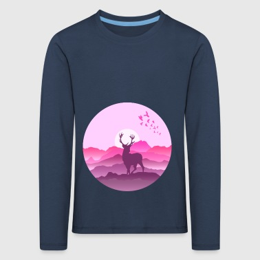 Deer in the mountains before sunset - Kids' Premium Longsleeve Shirt