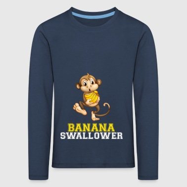 Banana swallower - Premium langermet T-skjorte for barn