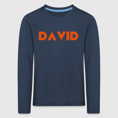 David Name - Kinder Premium Langarmshirt