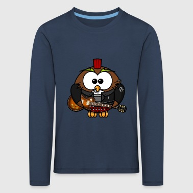 Rocky Owl Rock Music RocknRoll Comic Fun - Kids' Premium Longsleeve Shirt