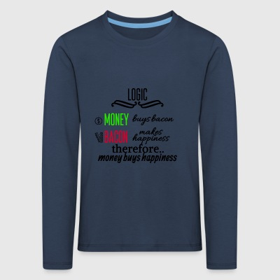 Money really is able to buy happiness - Kinder Premium Langarmshirt