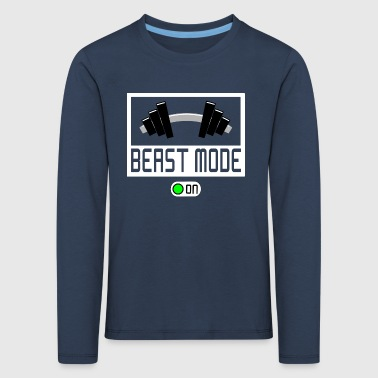 BEAST MODE ON - Kids' Premium Longsleeve Shirt