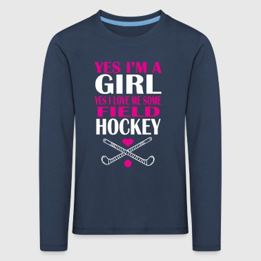 Girl field hockey - Kids' Premium Longsleeve Shirt
