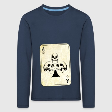 Ace of skulls - Kids' Premium Longsleeve Shirt