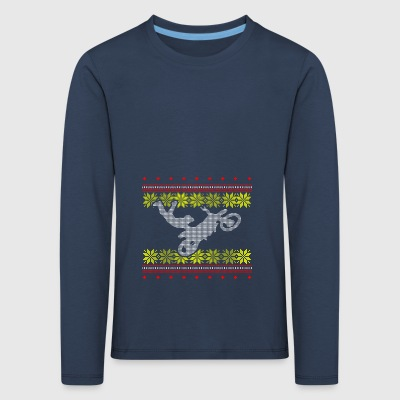 motocross ugly sweater xmas gift christmas - Kids' Premium Longsleeve Shirt