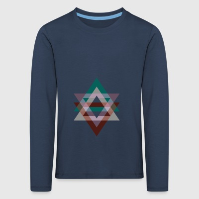 Triangle Graphics Violet Green retro - Kinderen Premium shirt met lange mouwen