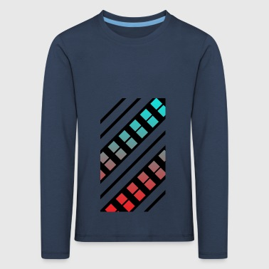 Blue and red Pattern - Kids' Premium Longsleeve Shirt