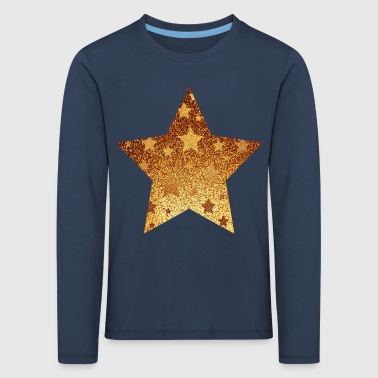 Star with asterisks - gold with gold - Kids' Premium Longsleeve Shirt