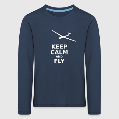Keep calm and fly - Kids' Premium Longsleeve Shirt