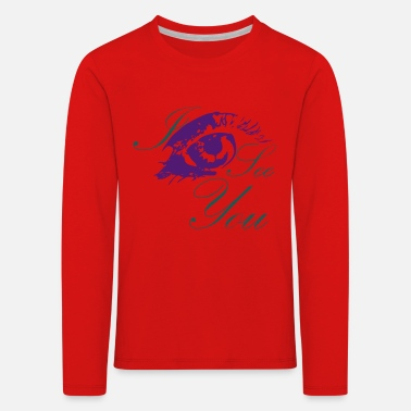 I see you, colorful eye - Kids' Premium Longsleeve Shirt