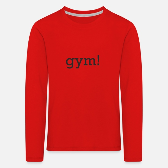 Fitness Long sleeve shirts - Gym - Kids' Premium Longsleeve Shirt red