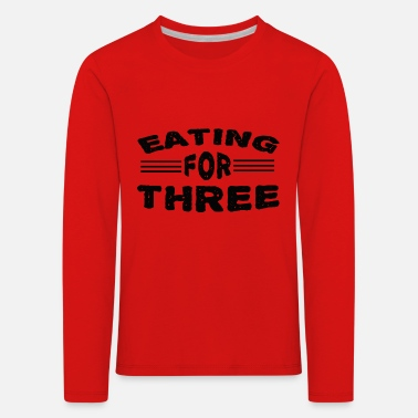 eating for three - Kids' Premium Longsleeve Shirt
