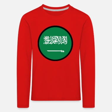 King Salman Under The Sign Of Saudi Arabia - Kids' Premium Longsleeve Shirt