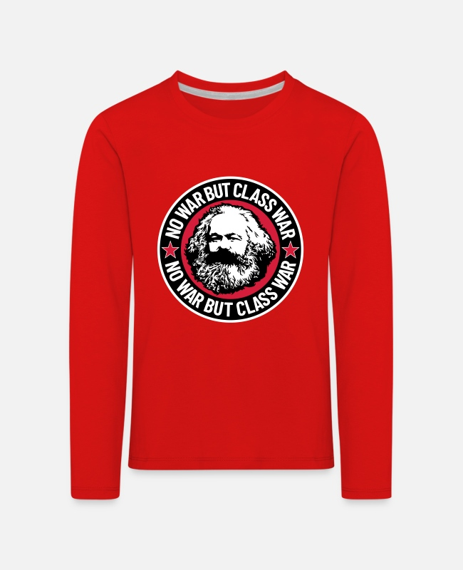 G8 Long-Sleeved Shirts - No War But Class War II - Kids' Premium Longsleeve Shirt red