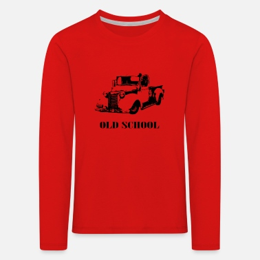 Old school car - Kids' Premium Longsleeve Shirt