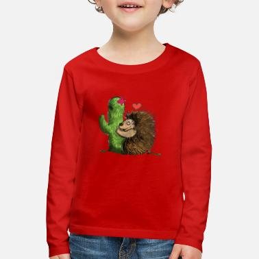 Igel Kaktus International hugging day - Kinder Premium Langarmshirt