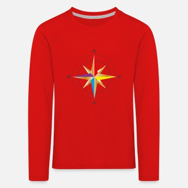 Where are you going? - Wind rose compass - Kids' Premium Longsleeve Shirt
