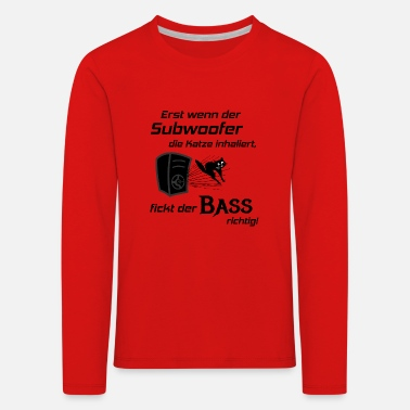 Hifi Car Hifi - Subwoofer Cat, Hifi Shirt Bass Lover - Kinderen premium longsleeve