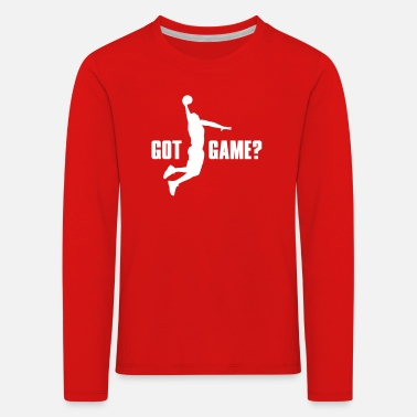Got Game Dunk Basketball - Kids' Premium Longsleeve Shirt