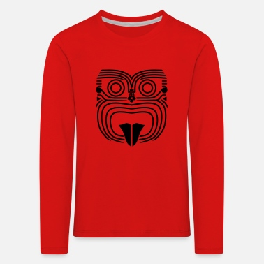 Maori Angry Face - T-shirt manches longues premium Enfant