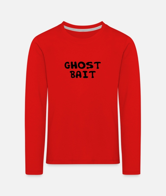 Horror Film Long-Sleeved Shirts - Ghost Ghost Hunter Ghost Hunt Ghost Gift - Kids' Premium Longsleeve Shirt red