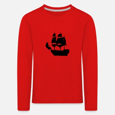 Pirate Ship Pirate ship pirate sailing ship - Kids' Premium Longsleeve Shirt