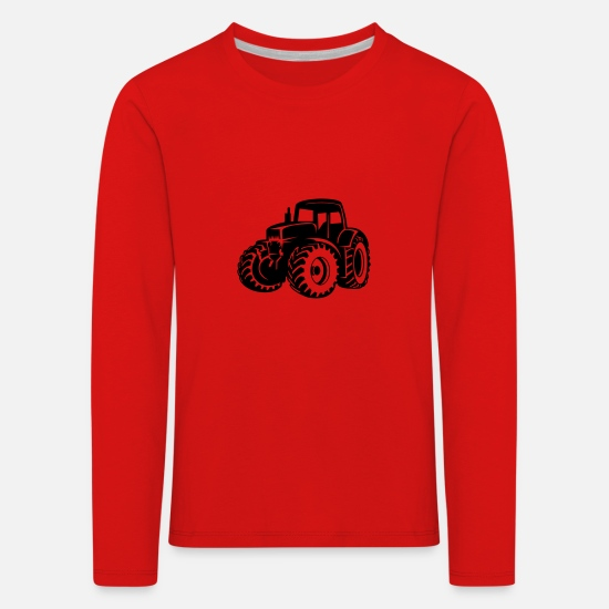 Country Long Sleeve Shirts - tractor - Kids' Premium Longsleeve Shirt red
